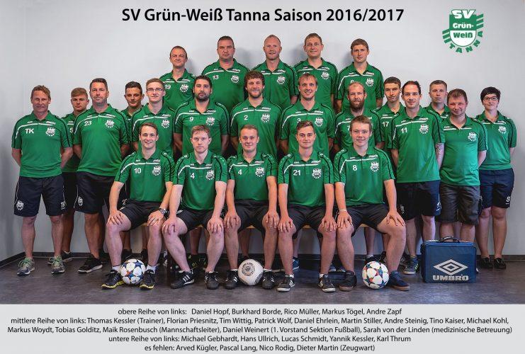 SG LSV 49 Oettersdorf - SG SV Grün-Weiß Tanna 2:4 (1:2)