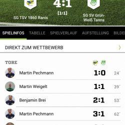 SG TSV 1860 Ranis – SG SV Grün-Weiß Tanna 4:1 (1:1)